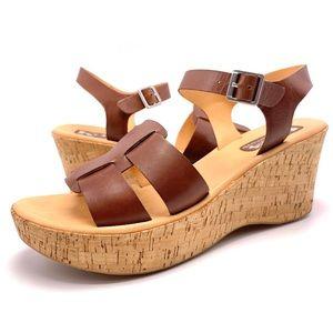 Korks Kork Ease Brie Cork Wedge Sandals